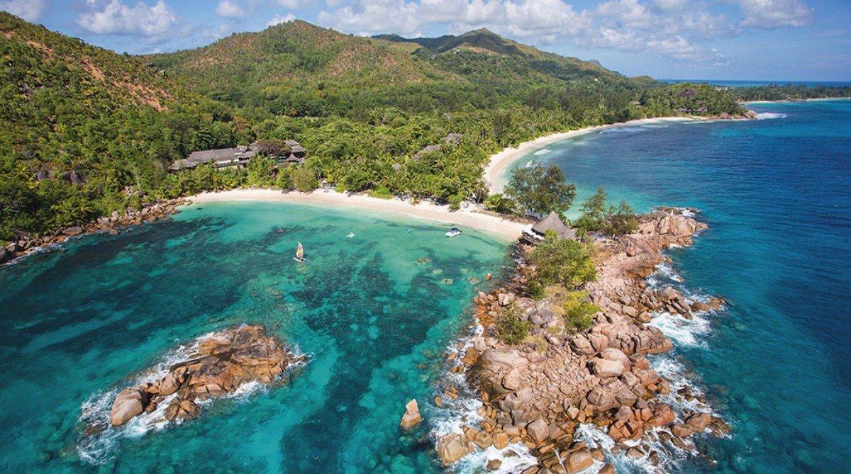 Kombinace tří Seychelských ostrovů