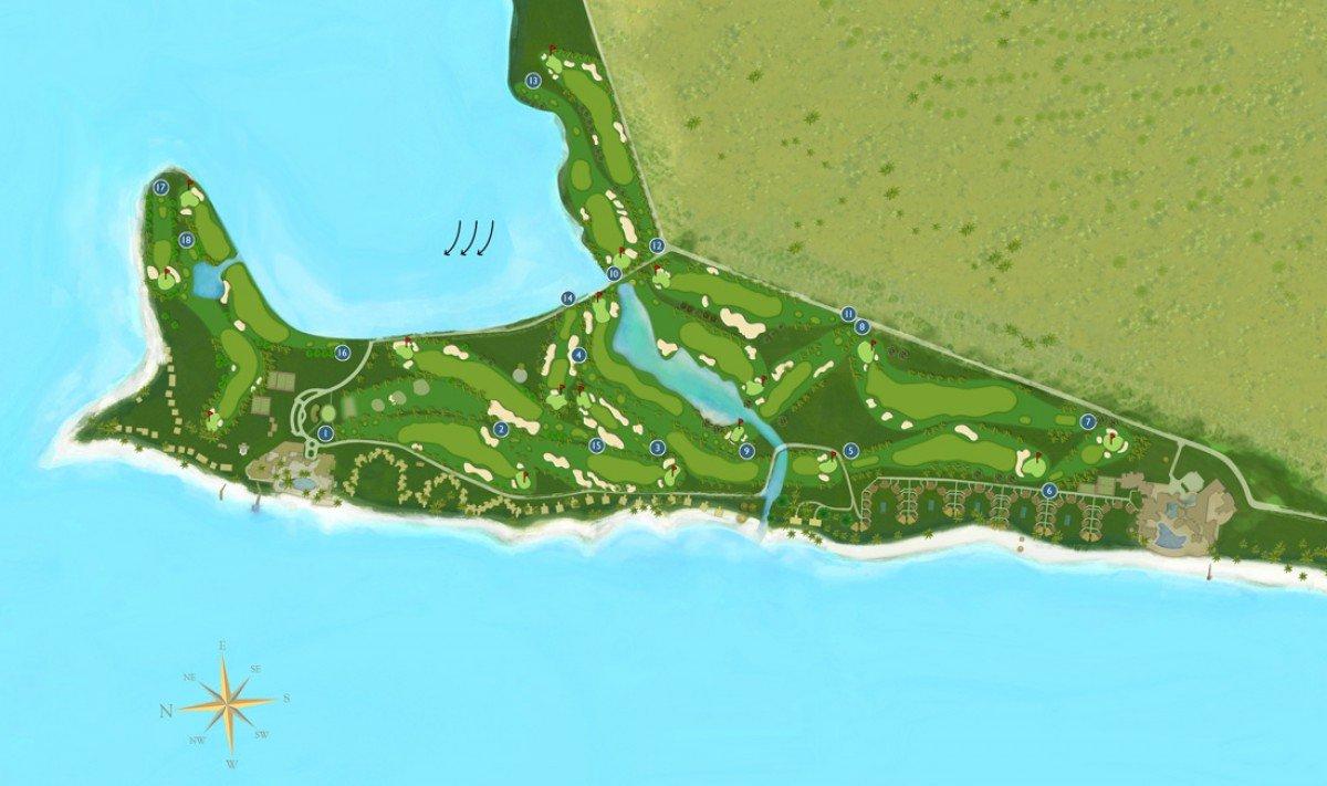 Mapa golfového ihriska