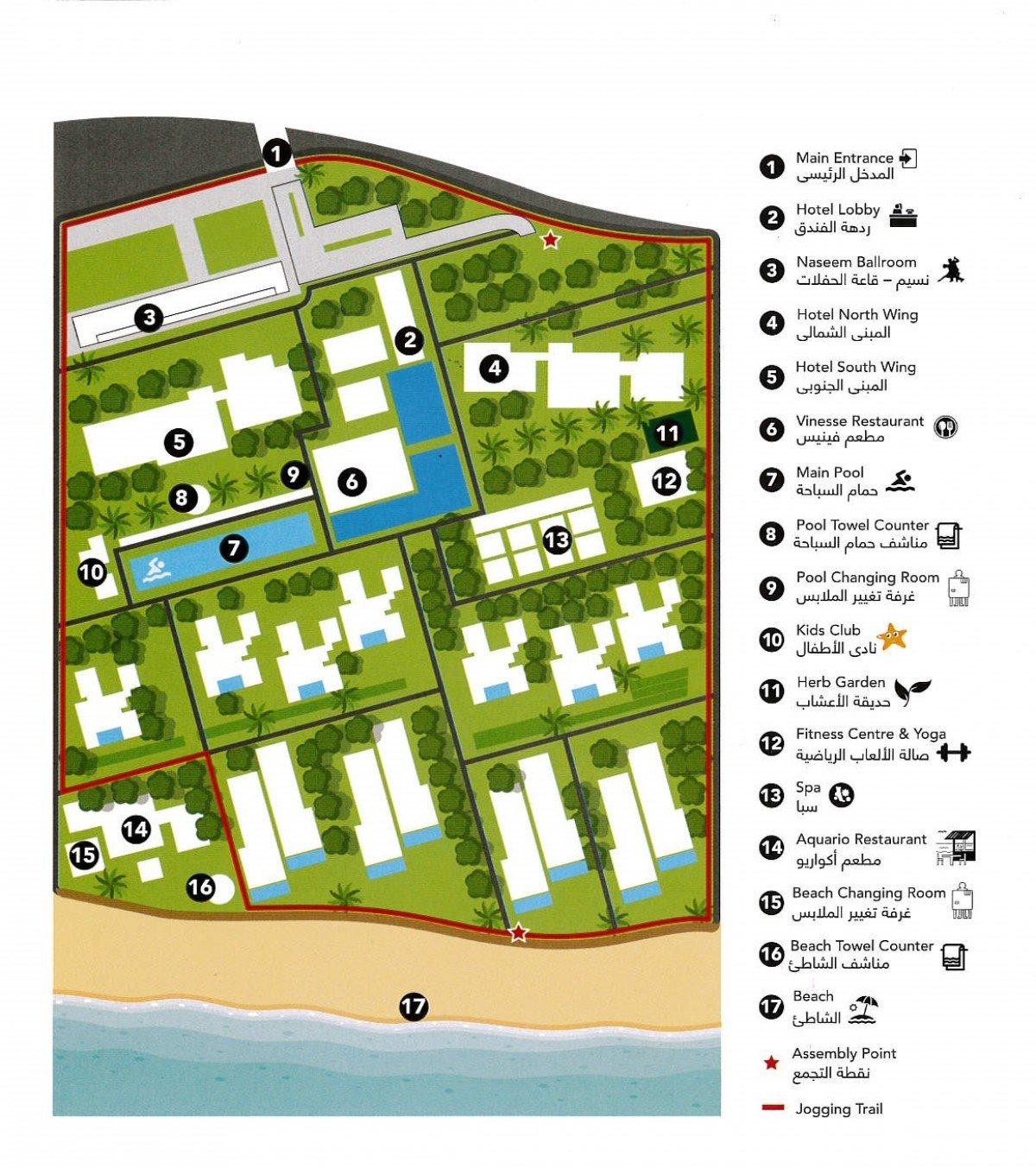 Plánek hotelu