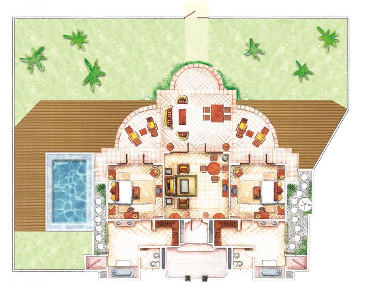 Senior Beach Pool Villa (840 m²)
