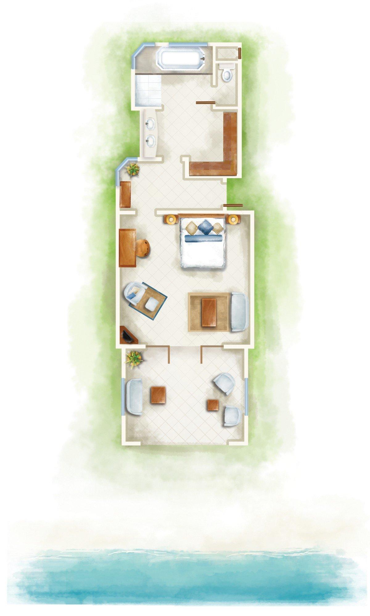 Tropical Beachfront Room (76 m²)