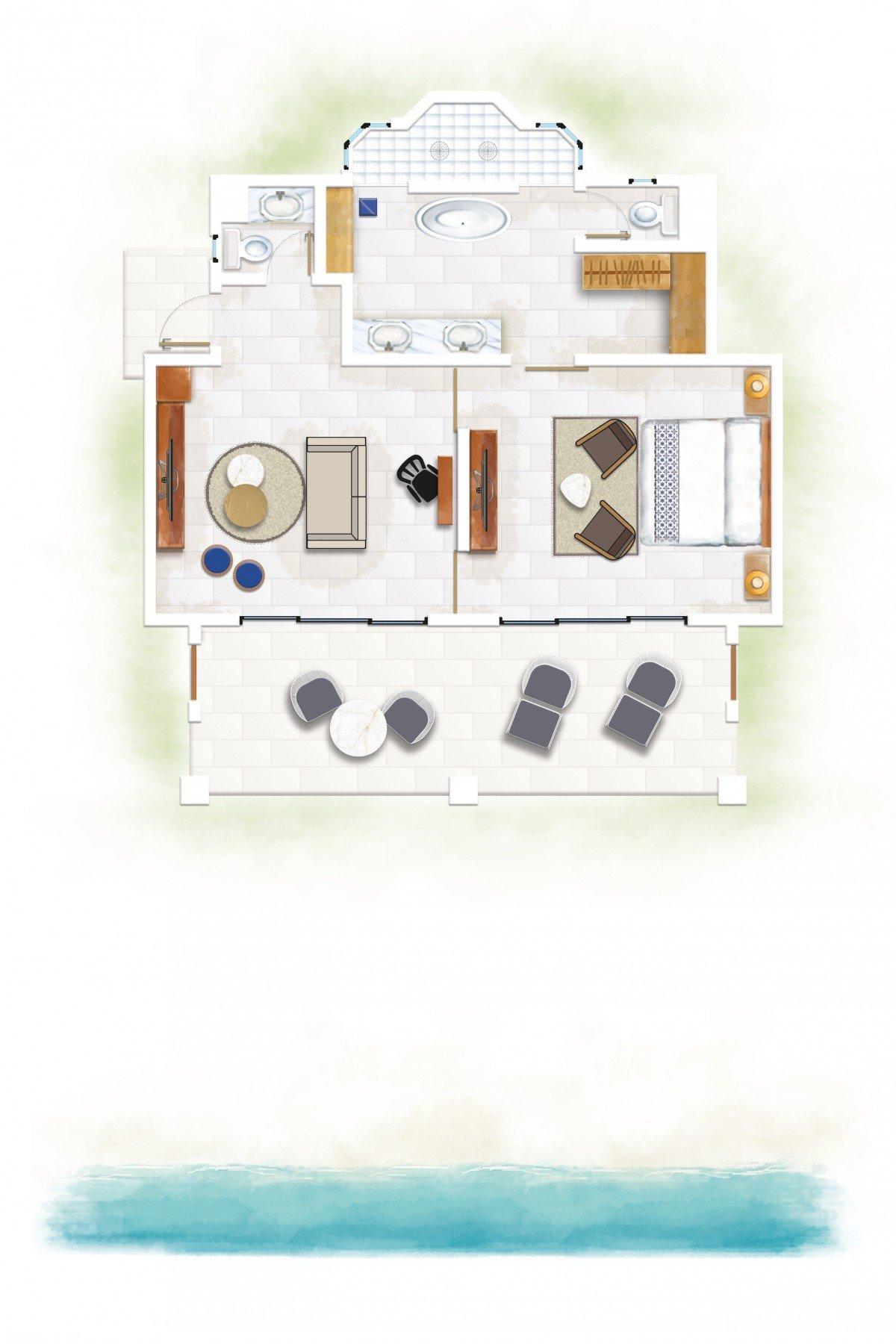 Ocean Beachfront Suites (94 m²)