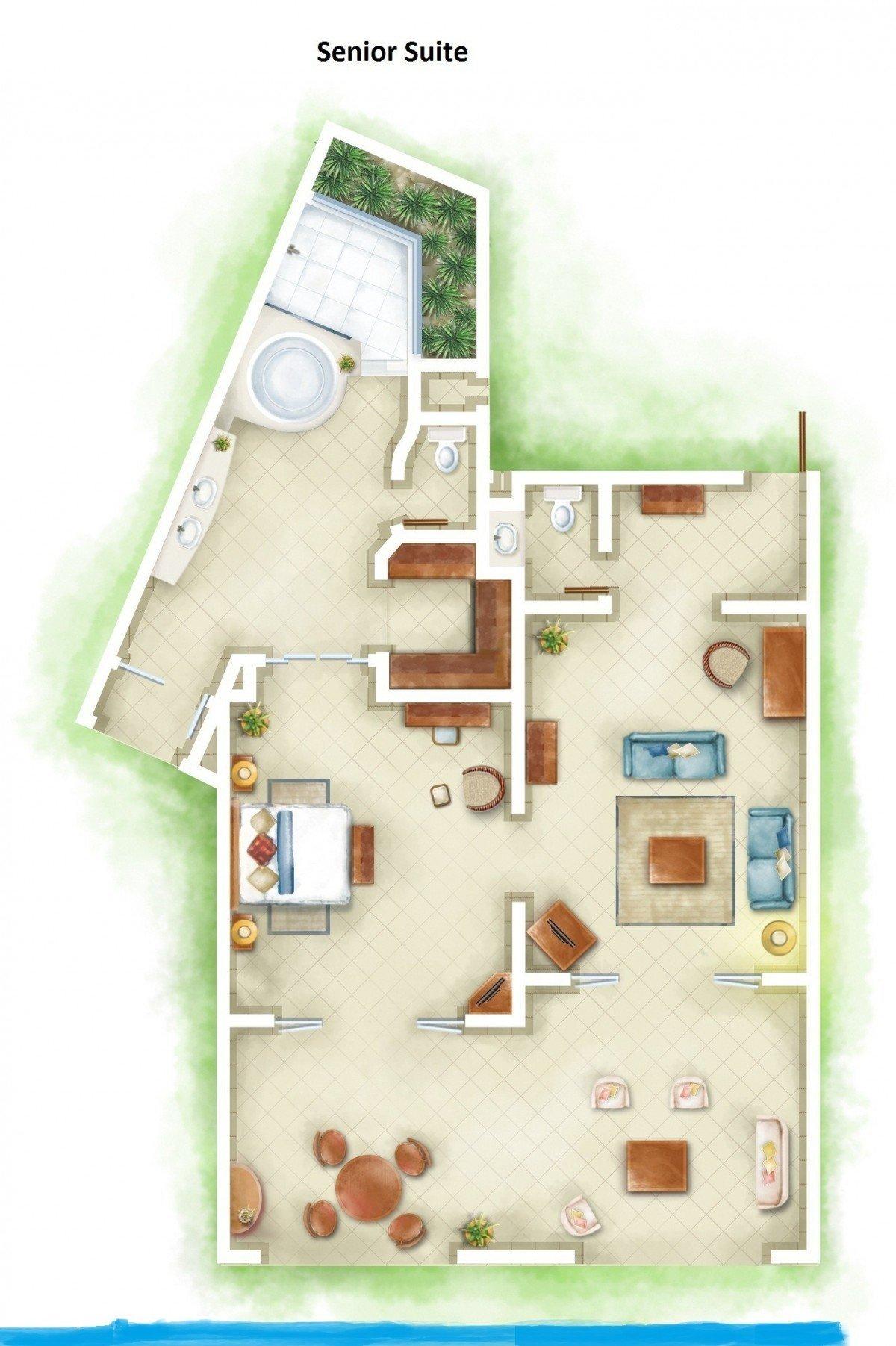 Senior Suite Beachfront - Family *