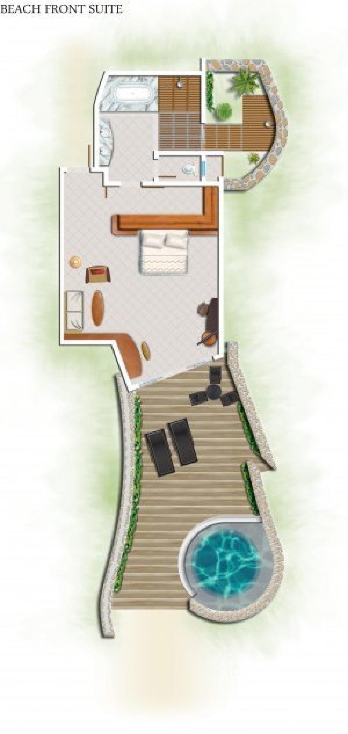 Beachfront Pool Suite - Family ****