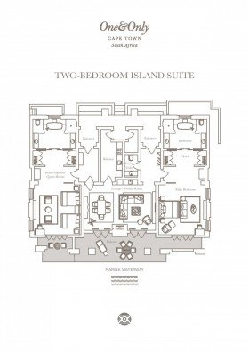 Two Bedroom Island Suite (254 m2)