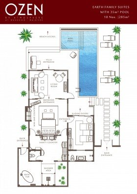 Earth Family Suite with Pool (285 m²)