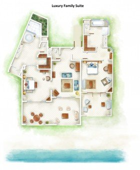 Luxury Family Suite Beachfront (223 m²)