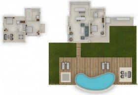 Deluxe Three Bedroom Villa with Private Pool Beachfront