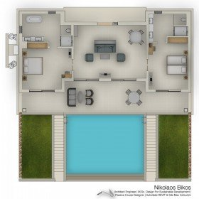 Deluxe Two Bedroom Suite private pool - Beach front