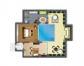 One Bedroom Garden Pool Villa
