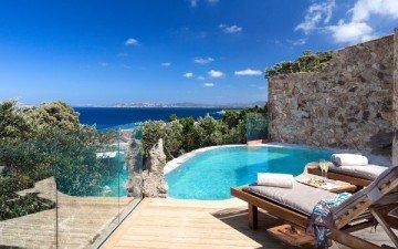 President Spargi Sea View (63 m² + 30 m² veranda a patio) – Hotel Erica