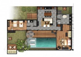 Two Bedroom Pool Residence