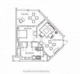 Colonial Ocean View Suite