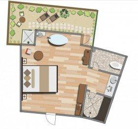 Spa Sanctuary Suite with Private Garden