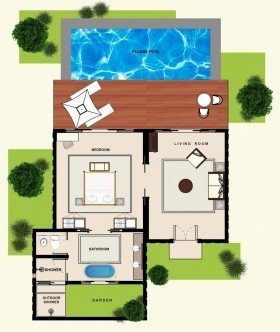 Luxury Garden Pool Villas