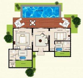 Frangipani Ocean Front Pool Villas
