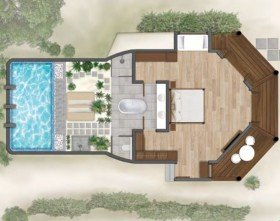 Waterfront Villa with pool (od 01.11.2019 Lagoon villa with plunge pool) (110 m2)