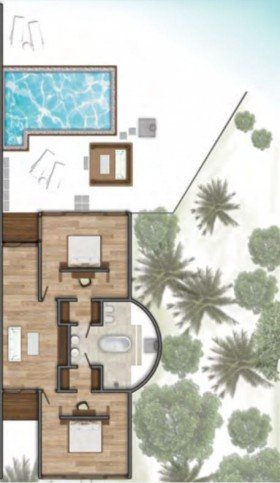 Two Bedroom Beach Suite with Pool (310 m2)