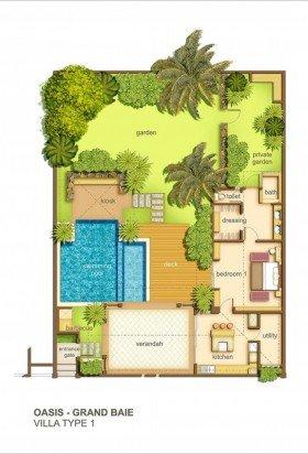 Villa Oasis - 1 bedroom