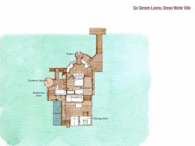 Ocean Water Villa (108 m2, max. 2 dospělí a 2 děti)