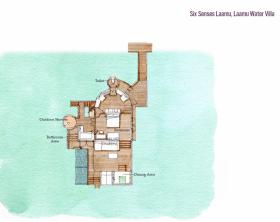 Laamu Water Villa (108 m2, max. 2 dospělí a 2 děti)
