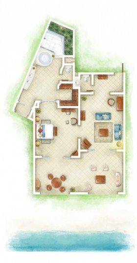 Senior Suite Beachfront (147 m²)