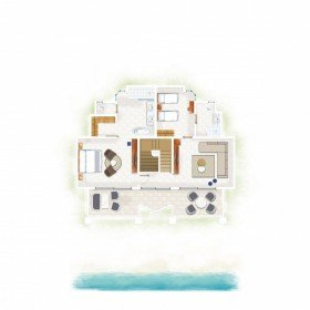 Ocean Beachfront Family Suite (100 m²)