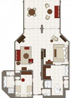 Zahradní dvouložnicové Suites