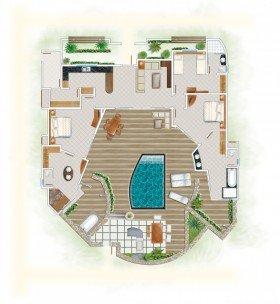 Pool Villa s 3 spálňami