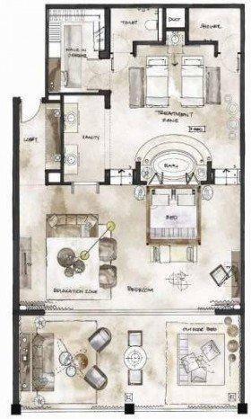 Ocean View Manor House Grand Suite (214 m²)