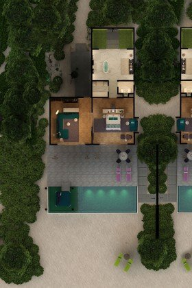 Superior Beach Villa with Pool