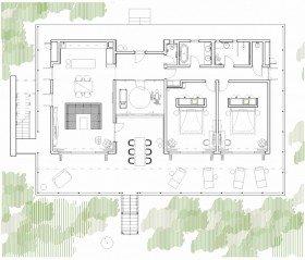 Dvoupokojová vila s výhledem do zahrady