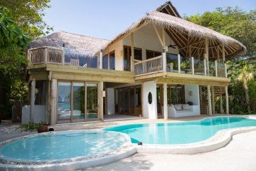 Soneva Fushi Villa Suite 3 Bedroom with Pool /**