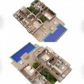 Two-Bedroom Beach Suite (531 m2)