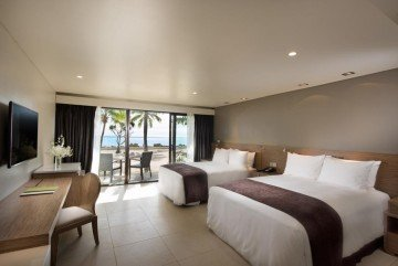 Double Queen Guest Room Beachfront with Balcony