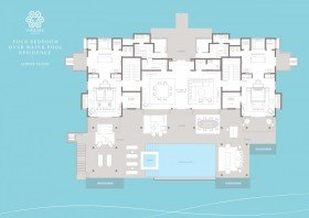 Four Bedroom Over Water Pool Residence