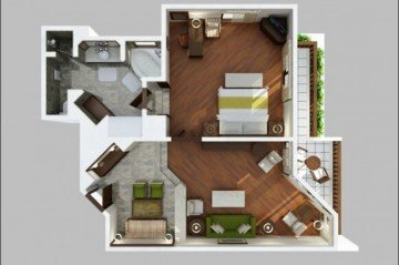 1 Bedroom Executive Suite