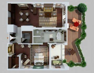 The Strand Villa (604m2, 2 osoby)