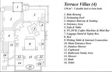 Terrace Villas (150m2, 4 vily)