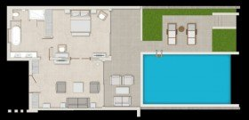 Deluxe One Bedroom Bungalow Suite Private Pool