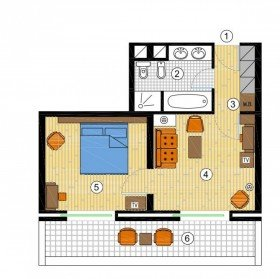 1- bedroom Suite