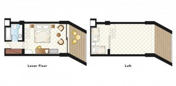 Loft Family Room with Garden (27 m²)