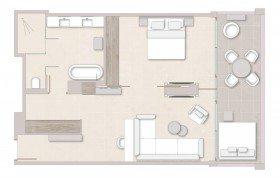 One Bedroom Suite – Sea View