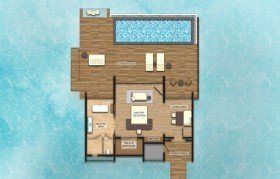 Overwater Villa with Private Pool (220 m2)