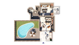 Family One Bedroom Suite Private Pool