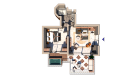 Premium One Bedroom Suite Sea View