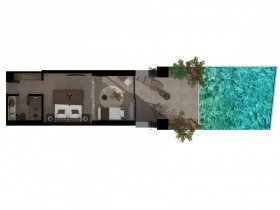 Sapphire Open Plan Suite With Swim Up Pool