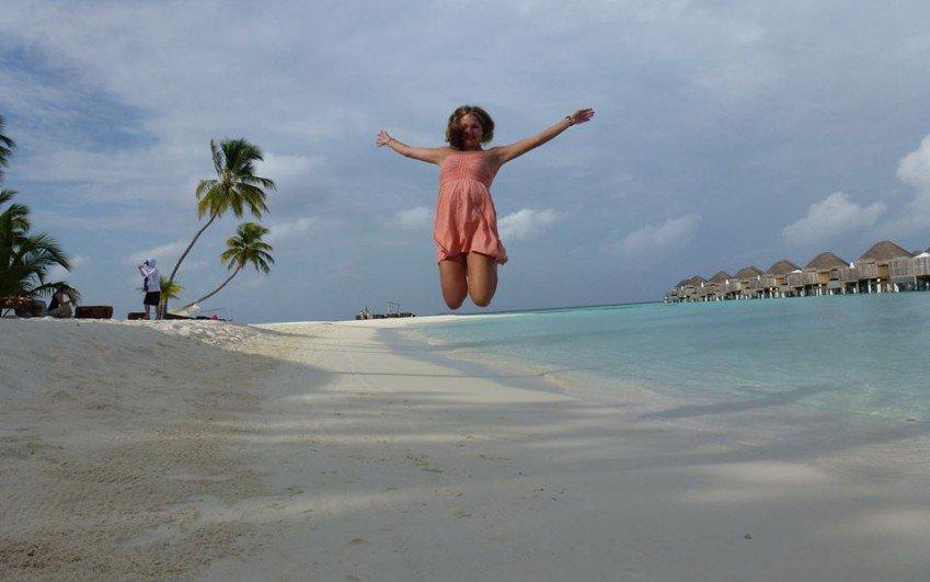 Inspekční cesta Kláry Borutové na Maledivy, únor 2014