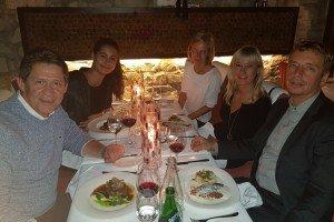 Pracovní večeře se zástupcem Beachcomber v Praze