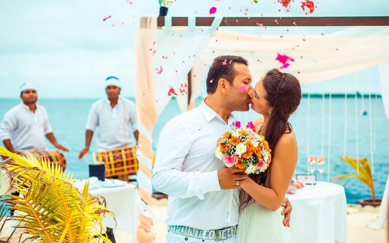 Svadba na Maledivách